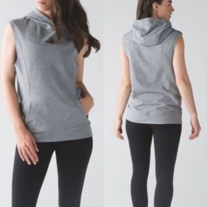 Lululemon Blissed Out Sleeveless hoodie top size 8